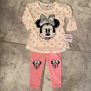 NWT Minnie Mouse outfit 24 month girl